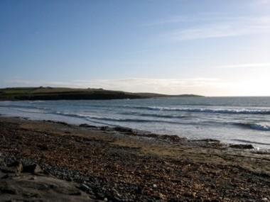 Írország, hajnali part