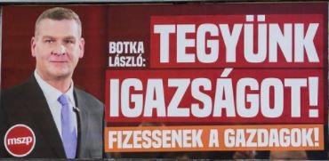 Tegyünk igazságot - MSZP plakát